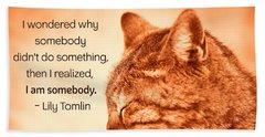 Do Something - Orange Cat Beach Towel