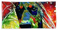 Doberman Custom Portrait Beach Towel