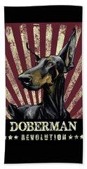 Doberman Revolution Beach Towel