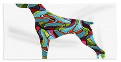 Doberman Spirit Glass Beach Sheet
