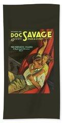 Doc Savage The Fantastic Island Beach Towel