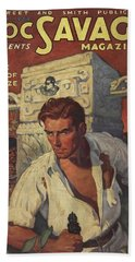 Doc Savage The Man Of Bronze Beach Towel