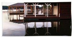 Dock Reflections Beach Sheet