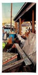 Docks At Port Aransas Beach Towel