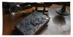 Doctor Who Steampunk Journal  Beach Towel