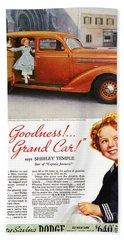 Dodge Automobile Ad, 1936 Beach Towel