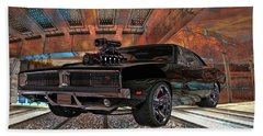Beach Towel featuring the photograph Dodge Charger R/t 1969 Hemi by Louis Ferreira