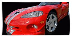 Dodge Viper Gts Beach Sheet by Gill Billington