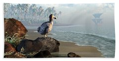 Dodo Afternoon Beach Towel by Daniel Eskridge