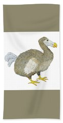 Beach Sheet featuring the painting Dodo Bird Protrait by Thom Glace
