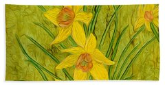 Daffodils Too Beach Towel