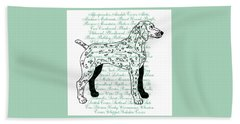 Dog Breeds Beach Towel