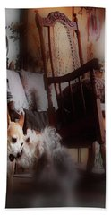 Dog Love Art  Beach Towel