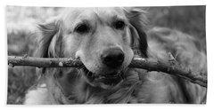 Dog - Monochrome 4 Beach Sheet