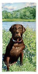 Dog Portrait #1 Beach Towel