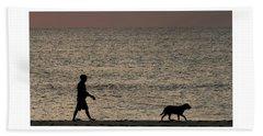 Dog Walker Dawn Delray Beach Florida Beach Towel