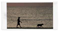Dog Walker Dawn Delray Beach Florida Beach Sheet