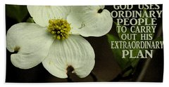 Beach Towel featuring the photograph Dogwood Bloom / Flower by James C Thomas