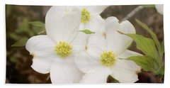 Dogwood Blossom Trio Beach Towel