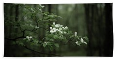 Dogwood Branch Beach Towel by Shane Holsclaw
