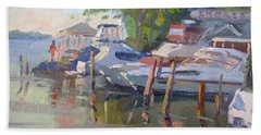 Docks At The Shores  Beach Towel