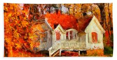 Doll House And Foliage Beach Sheet