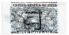Dollar Submerged Beach Towel