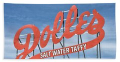 Dolles Salt Water Taffy - Rehoboth Beach  Delaware Beach Towel by Brendan Reals