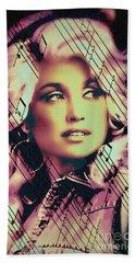 Dolly Parton - Digital Art Painting Beach Towel