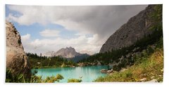 Beach Towel featuring the photograph Dolomit View II by Yuri Santin