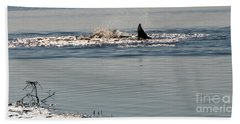 Dolphin Tail In The Water Beach Sheet