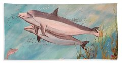 Dolphin Tales Beach Towel