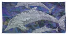 Dolphins - Beneath The Waves Series Beach Towel