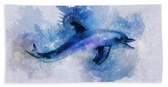 Dolphins Freedom Beach Towel