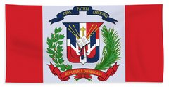 Beach Towel featuring the drawing Dominican Republic Coat Of Arms by Movie Poster Prints