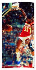 Dominique Wilkins - Nba Legend Beach Towel