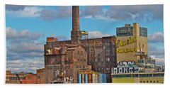 Domino Sugar Water View Beach Towel by Alice Gipson