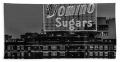 Domino Sugars Sign Beach Sheet
