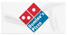 Domino's T-shirt Beach Towel