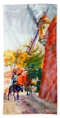 Don Quixote In San Juan Beach Towel