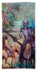Don Quixote With Dragon Beach Towel