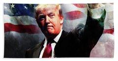 Donald Trump 01 Beach Towel by Gull G