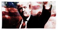 Donald Trump 01a Beach Towel by Gull G