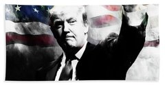 Donald Trump 01c Beach Towel by Gull G