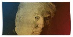 Donald Trump Watercolor Portrait Beach Towel