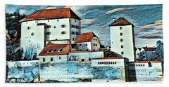 Donau, Passau, Germany Beach Sheet by Jim Pavelle