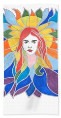 Donna Soul Portrait Beach Sheet