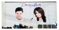 Donny And Marie Osmond Large Ad On Hotel Beach Sheet
