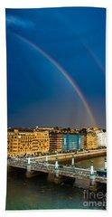 Beach Sheet featuring the photograph Donostia Rainbow by Mariusz Czajkowski