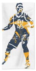 Donovan Mitchell Utah Jazz Pixel Art 10 Beach Towel